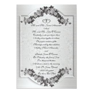 Wedding Invitation elegant Black white