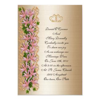 Wedding Invitation elegant floral lily