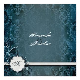 Wedding Invitation Elegant Vintage Monogram Damask