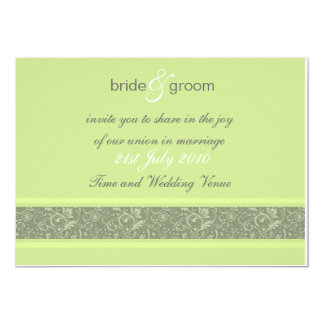 Wedding Invitation - Floral Fantasy - Apple Green