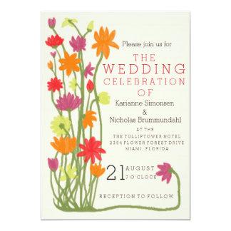 Wedding invitation flower motive