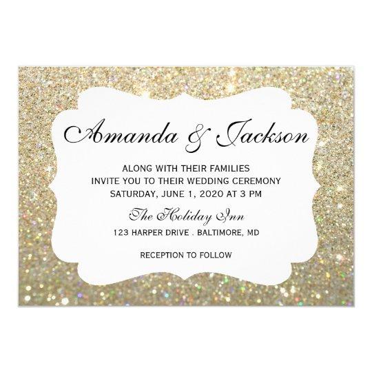 Wedding Invitation - Glit Fab Two - Gold