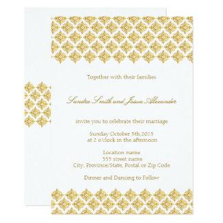 Wedding Invitation Gold Arabesques