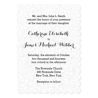 Wedding Invitation Hosted by Bride's Parents