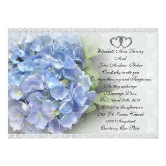 Wedding invitation Hydrangea and Lace