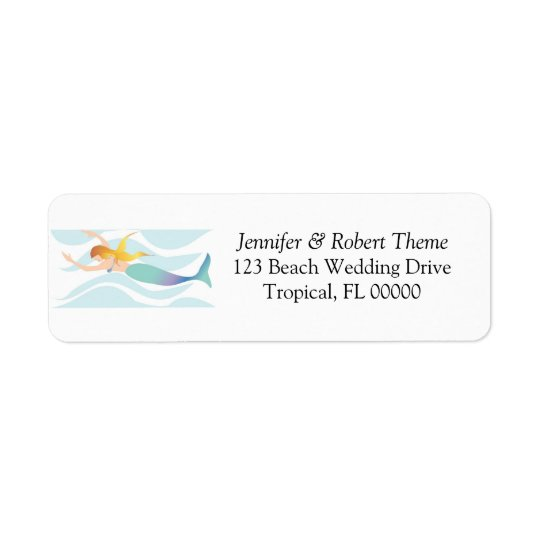 Wedding Invitation Mail Label Beach Theme