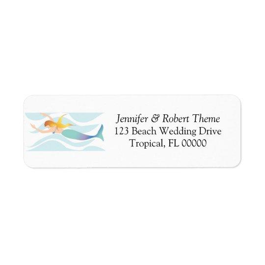 Wedding Invitation Mail Label Beach Theme Return Address Label
