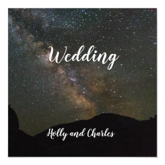 Wedding Invitation. Milky Way and the Cosmos. Card