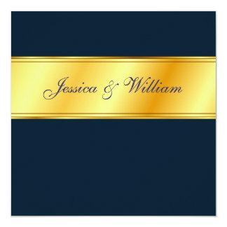 Wedding Invitation - Navy & Gold