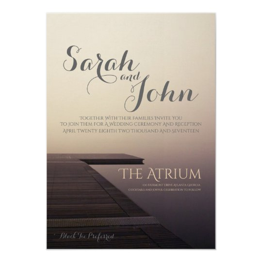 Wedding Invitation - Planks