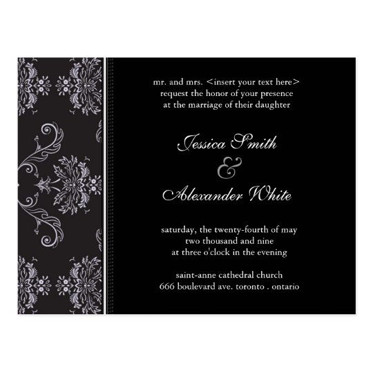 Wedding Invitation Postcard | E1