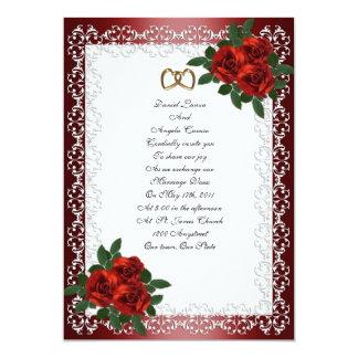 Wedding Invitation red roses
