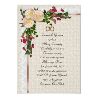 Wedding invitation Roses and Calla lilies
