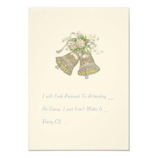 "Wedding  Invitation RSVP Card. ""Wedding Bells"""