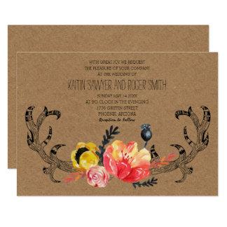 Wedding Invitation | Rustic Boho Florals