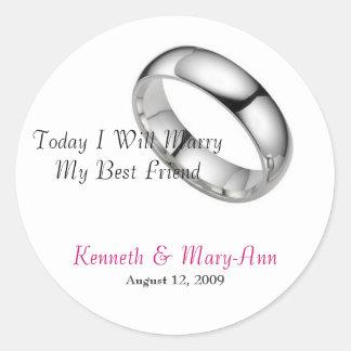 Wedding Invitation Seals Classic Round Sticker