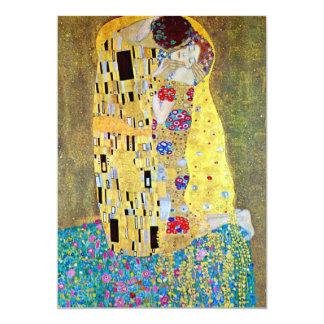 "Wedding Invitation; The Kiss by Gustav Klimt 5"" X 7"" Invitation Card"