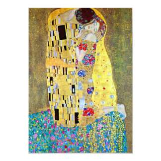 Wedding Invitation; The Kiss by Gustav Klimt Card