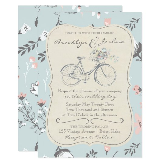 WEDDING INVITATION | Vintage Bicycle Love Wedding