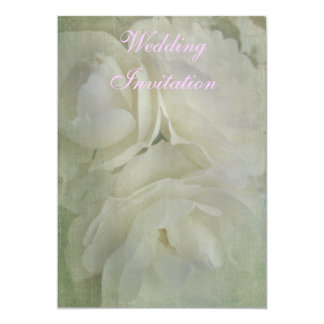 Wedding Invitation with delicate white roses