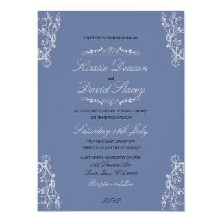Wedding Invitation with Ornate Decorations