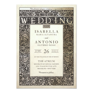 Wedding Invitations | Champagne Ivy Collection