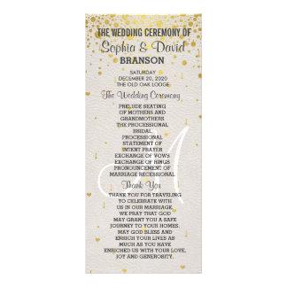 Wedding Invitations | Gold Confetti Custom Program Rack Cards