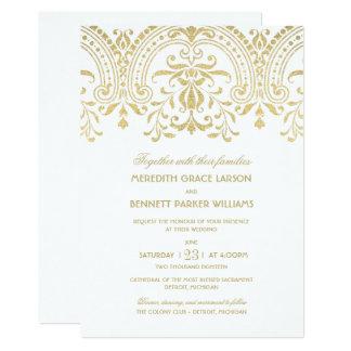 wedding invitations gold vintage glamour - Vintage Wedding Invitation