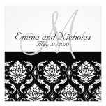 Wedding Invitations Monogram Damask