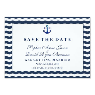Wedding Invitations | Nautical Navy SAVE THE DATE