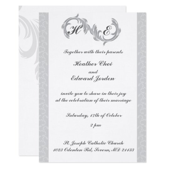 Wedding Invitations Silver
