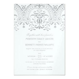 Wedding Invitations   Silver Vintage Glamour