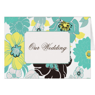 Wedding Invitations ~ summer florals blue poppies