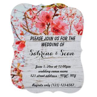 Wedding Invite Blended Half and Half Design