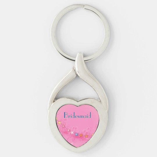 Wedding Keepsake Heart Keychain
