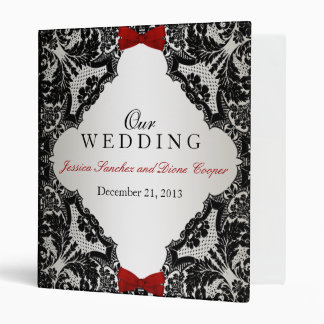 Wedding Lace and Bow Binder