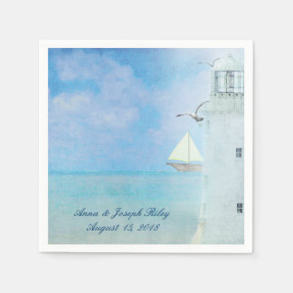Wedding Lighthouse Paper Napkins