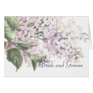 Wedding Lilac Blooms Thank You Card