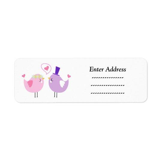 Wedding Love birds address label Sticker