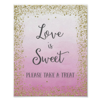 Wedding Love is Sweet Poster Print