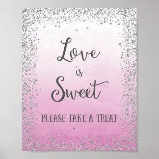 Wedding Love is Sweet Poster Print