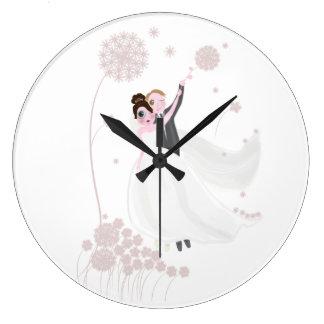 Wedding love large clock