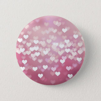 Wedding Love Vector Background shiny pink hearts 2 Inch Round Button