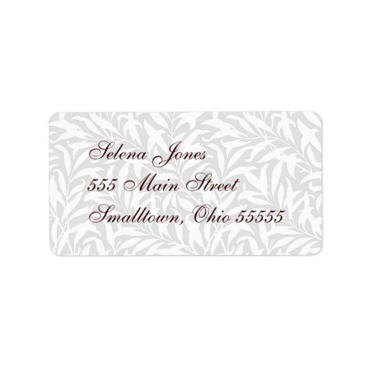 Wedding Mailing Label White Lacy Customizable