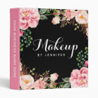 Wedding Makeup Beauty Salon Romantic Floral Binder