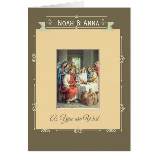 Wedding Marriage Bride Groom Jesus Cana Card