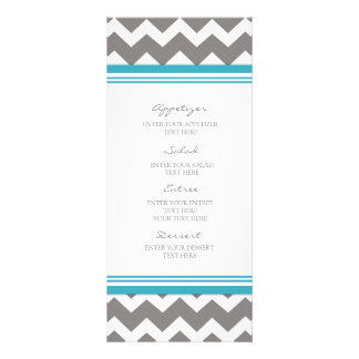 Wedding Menu Blue Gray Chevron