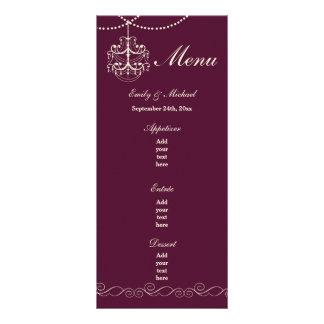 Wedding Menu Card Gothic Chandelier