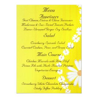 Wedding Menu Personalized Invitation