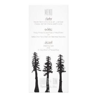 Wedding Menu Redwood Trees Custom Rack Card